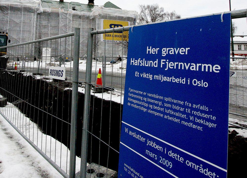 Fjernvarme er avhengig av søppel til forbrenningen. Men mye av søppelet sendes til Sverige.