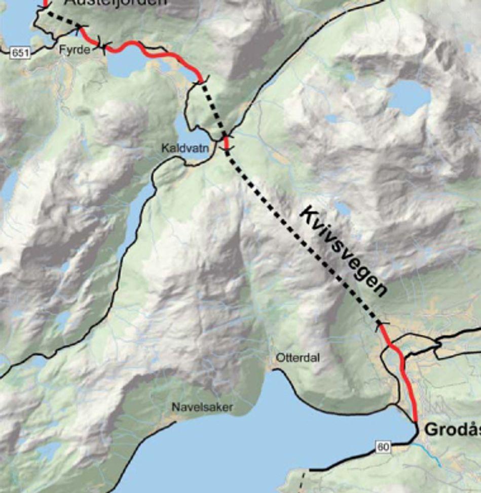 Det siste store anleggsoppdraget på Kvivsvegen gjelder vel tre kilometer veg lengst sør i prosjektet.