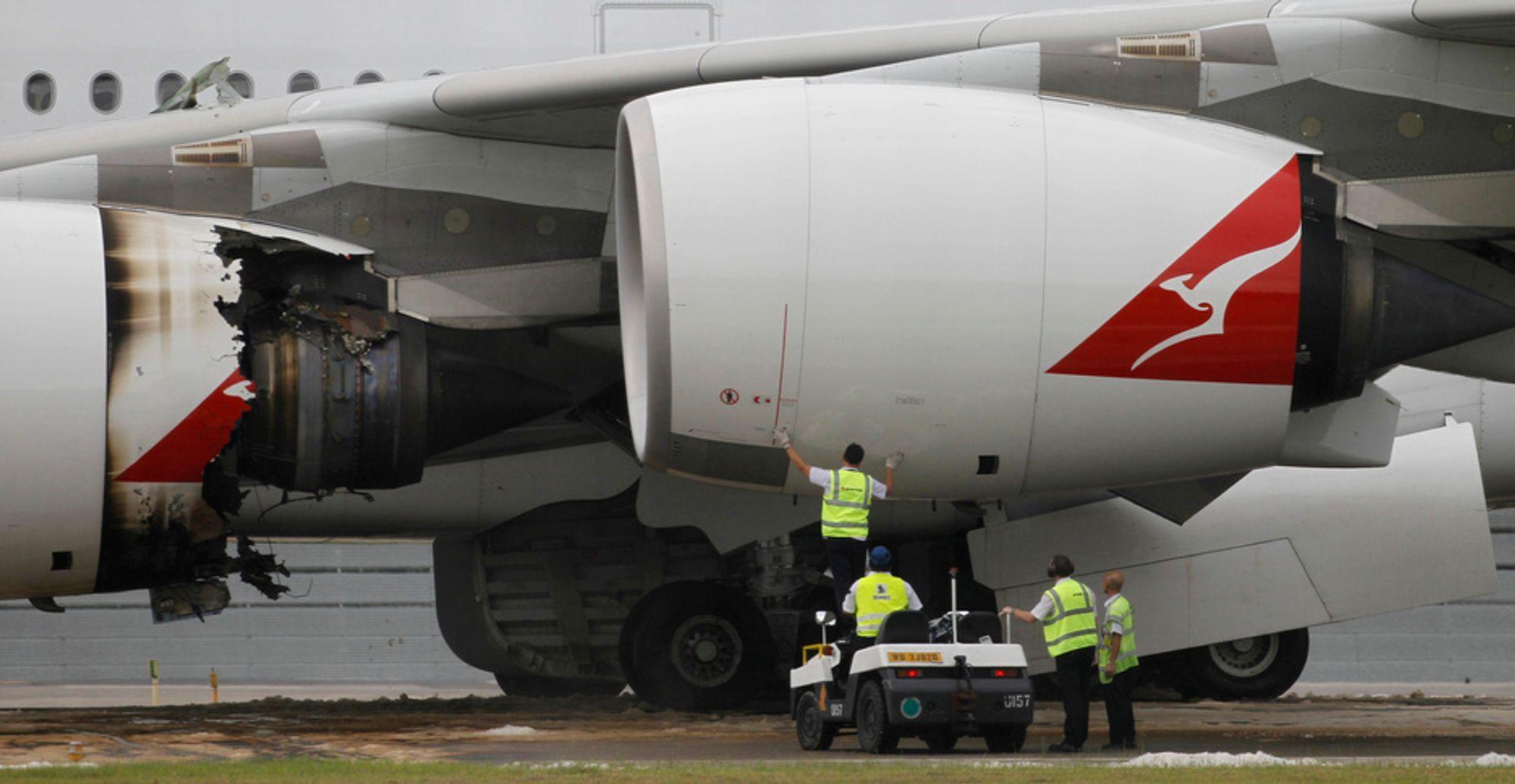 Tidligere denne måneden måtte en Qantas-fly nødlande i Singapore etter en motorsvikt. Nå er det mulig produsenten Rolls-Royce må skifte ut flere A380-motorer.