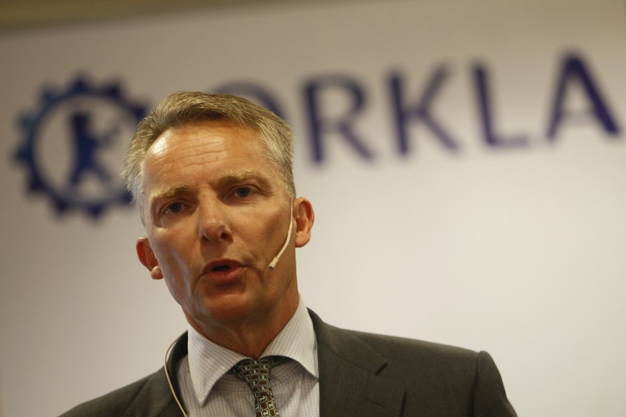 Til tross for stort Orkla-underskudd er konsernsjef Dag J. Opedal fornøyd med tallene som ble lagt fram onsdag