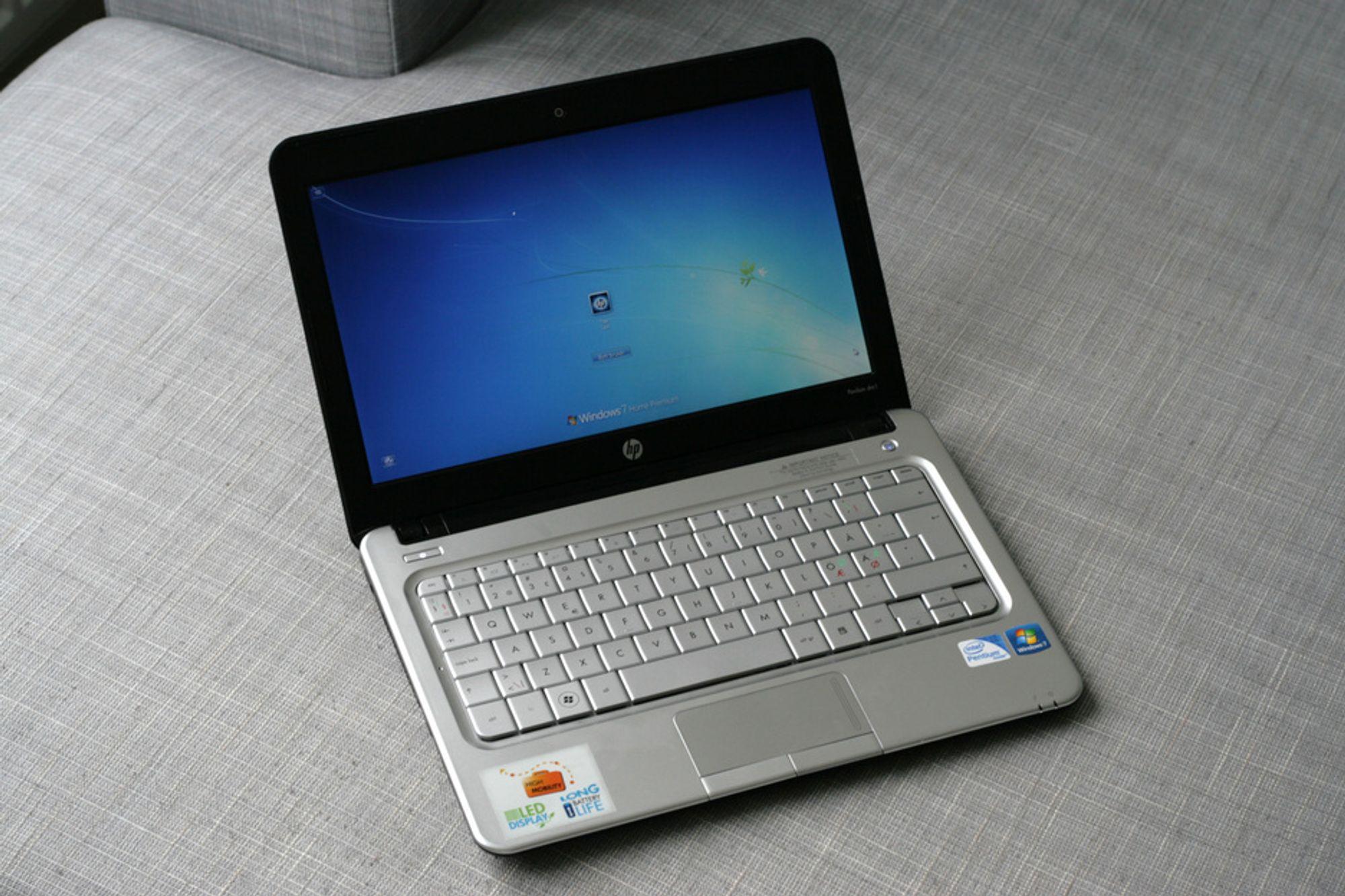 HP er fortsatt den største leverandøren av PC-er i verden. Her modellen Pavilion dm1, som vi var veldig fornøyde med i vår test.