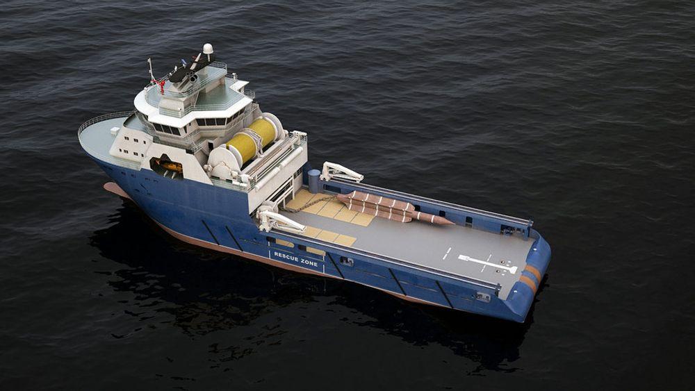 TUNGT UTSTYR: De nye Rolls - Rouce-vinsjene for torpedoankerne veier 1000 tonn.