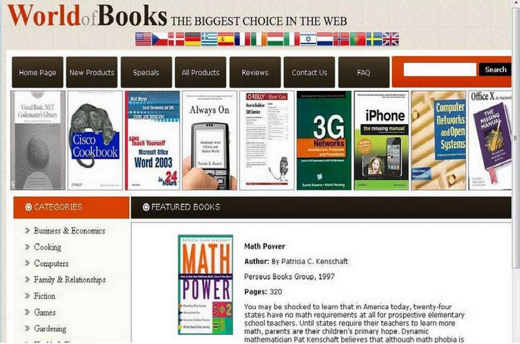 JUKS: Denne nettbokhandelen ser ut til å tilby gratis e-bøker, men har i virkeligheten til formål å spre skadelig programvare.