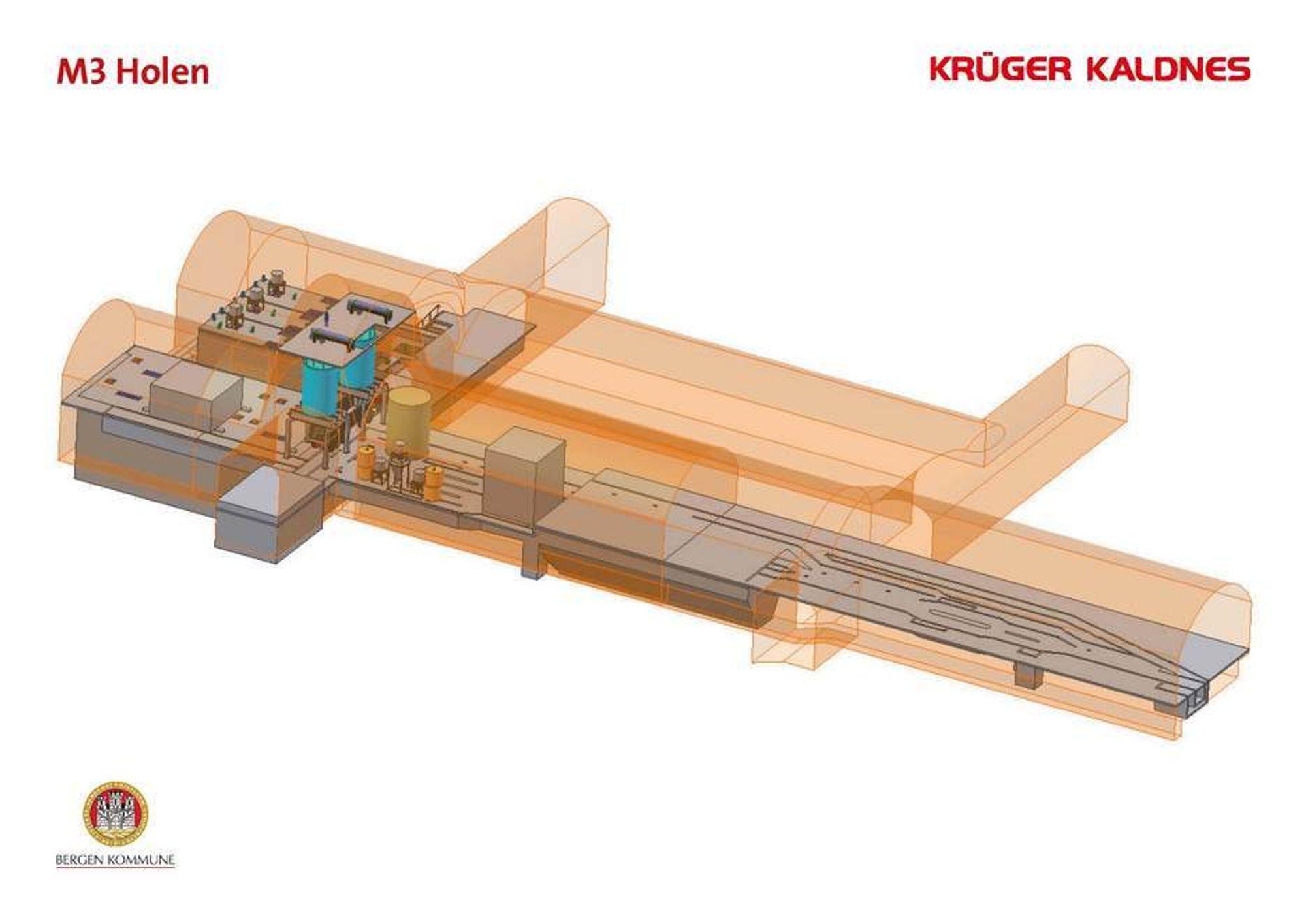 TRANGT: Med teknologi som gjør det mulig å bygge trangt har Krüger Kaldnes vunnet VA-kontrakt i Bergen.