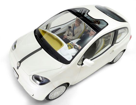Dette er det første bildet av konseptbilen Eva som Valmet Automotive offentliggjorde i dag. Elbilkonseptet vises fram i Genève i neste uke.