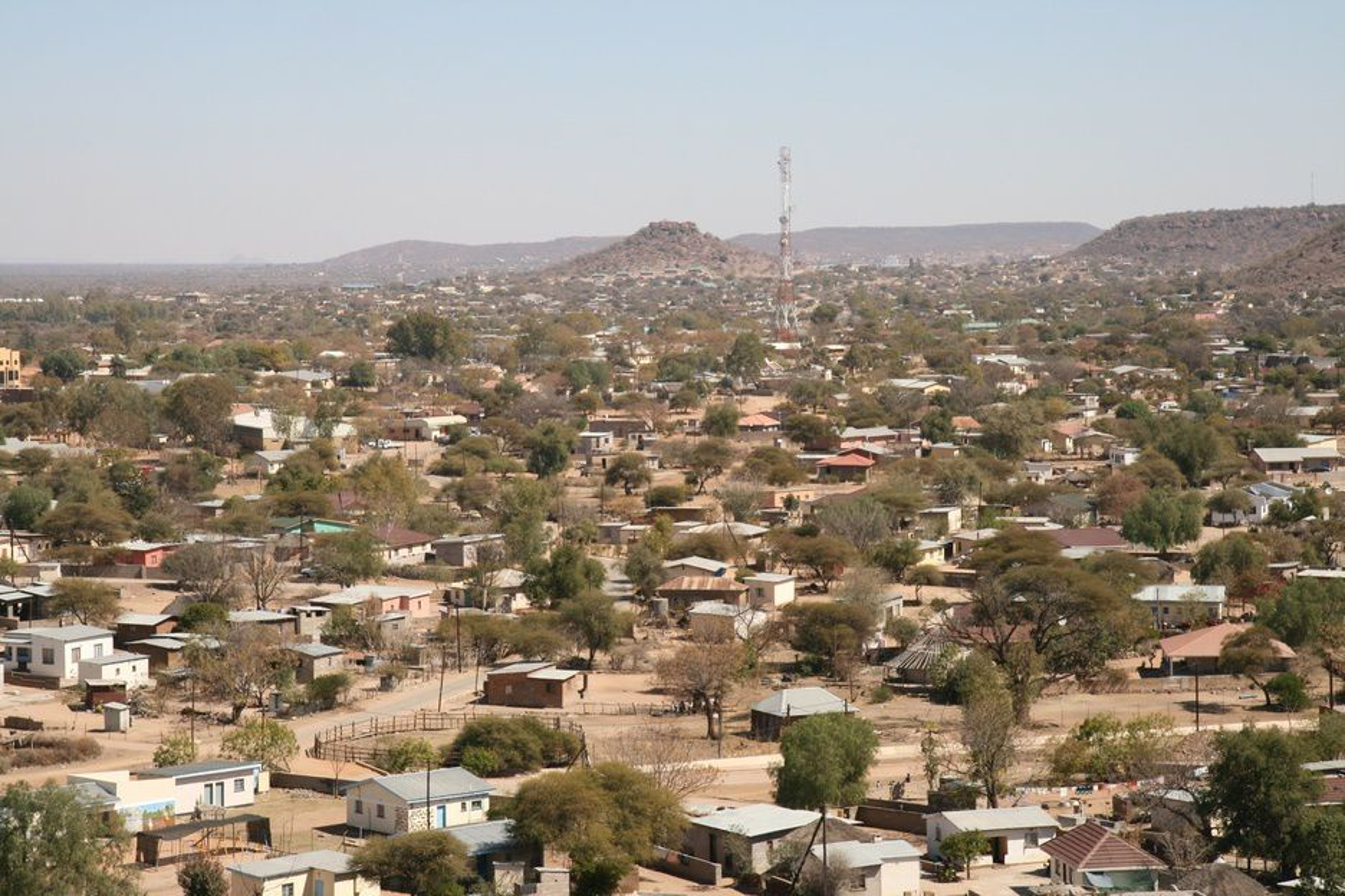 Illustrasjonsfoto fra Mochudi, en av de større landsbyene i Botswana.
