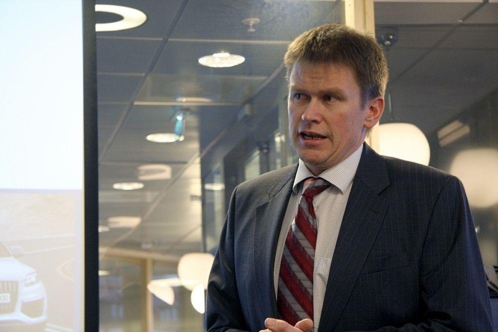 Konsernsjef Hans Peter Havdal i Kongsberg Automotive presenterte i dag det nye industrisamarbeidet Electric Mobility Norway (arkivfoto).