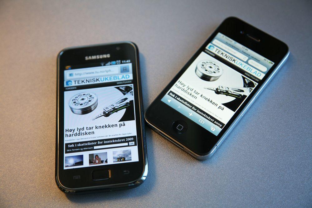 I TET: iPhone er fortsatt den mest brukte enheten til mobilsurfing på norske nettsteder. Android tar riktignok markedsandeler lynkjapt, men tilsynelatende stort sett fra Symbian.