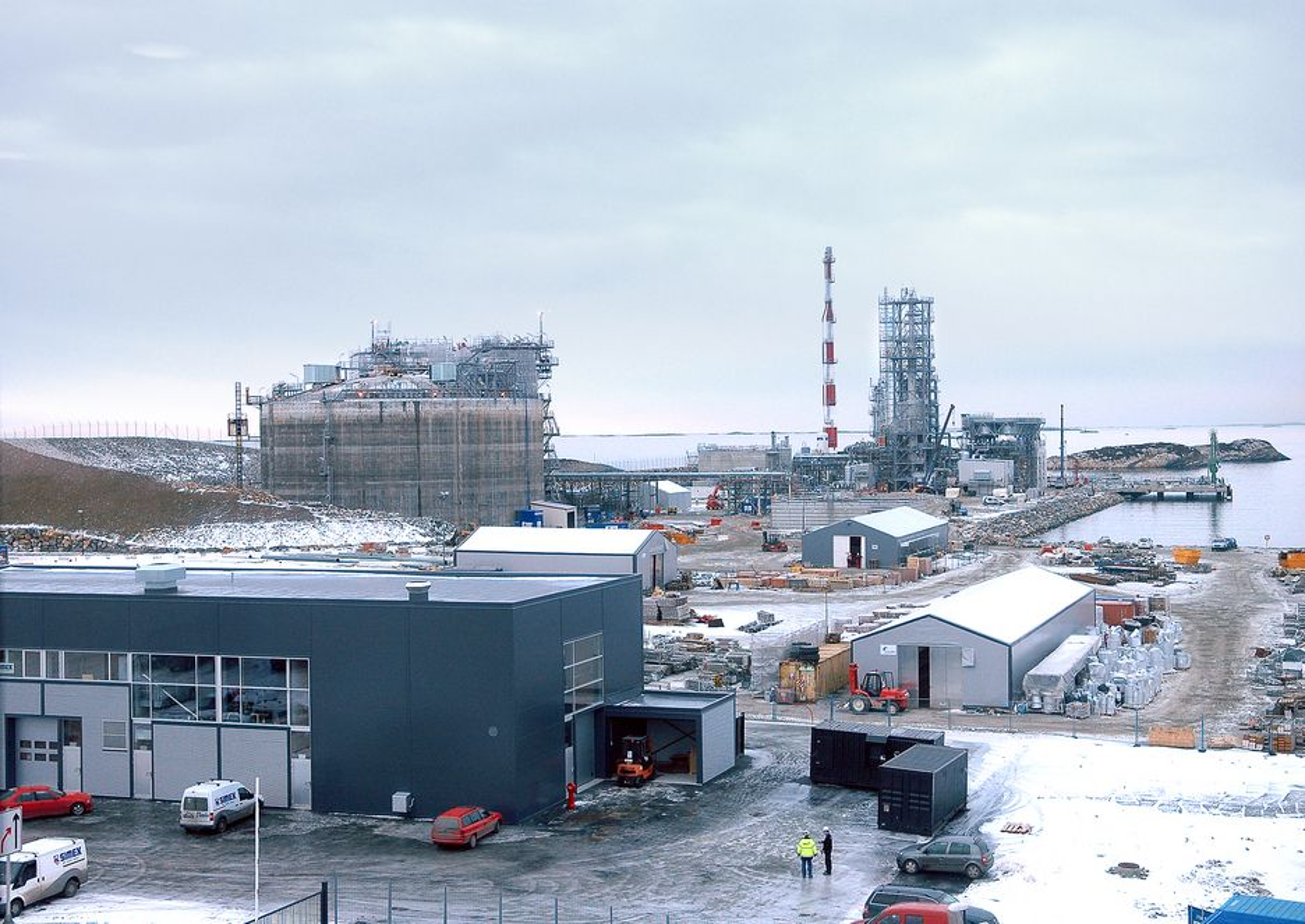 LNG-anlegget i Risavika produserer.