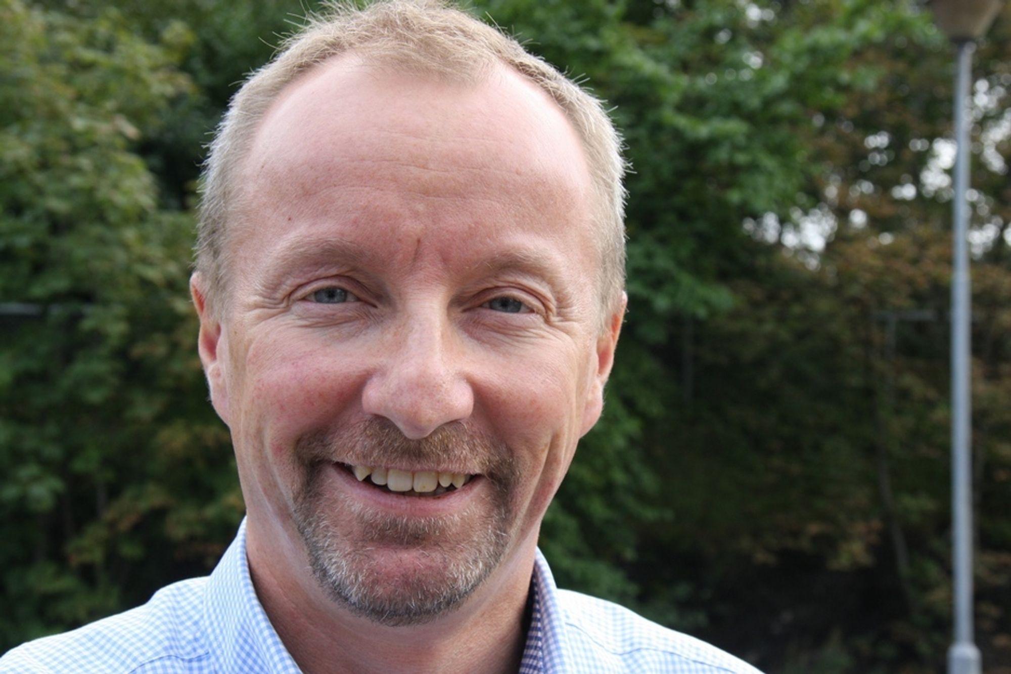 ØKER LØNNSOMHETEN: Peter Gjørup kan si seg fornøyd med økt lønnsomhet og god vekst i NCC.