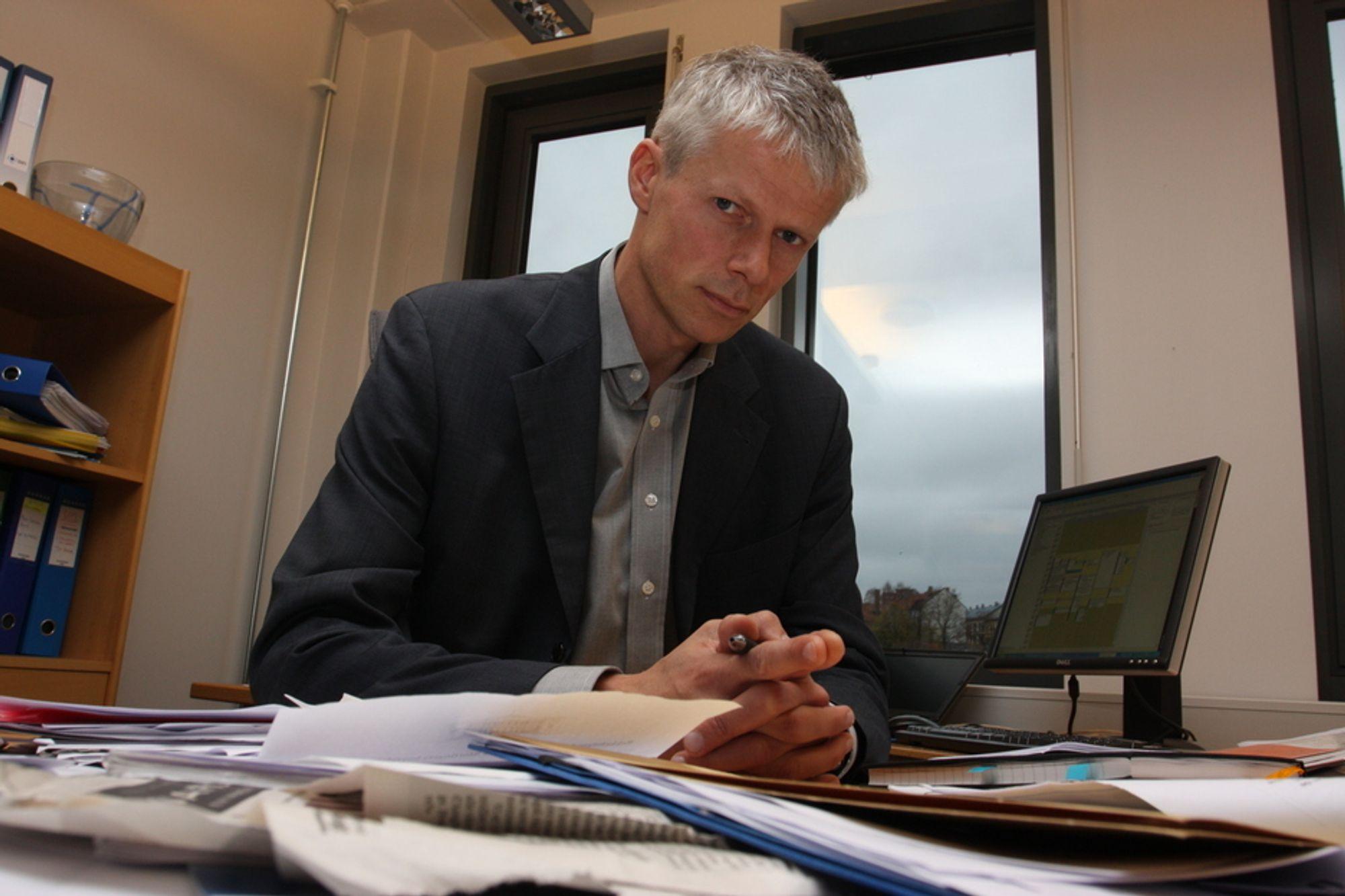 LÆRER AV DANSKENE: Difi-direktør Hans Chrisitan Holte kjemper mot nye it-havarier i staten.
