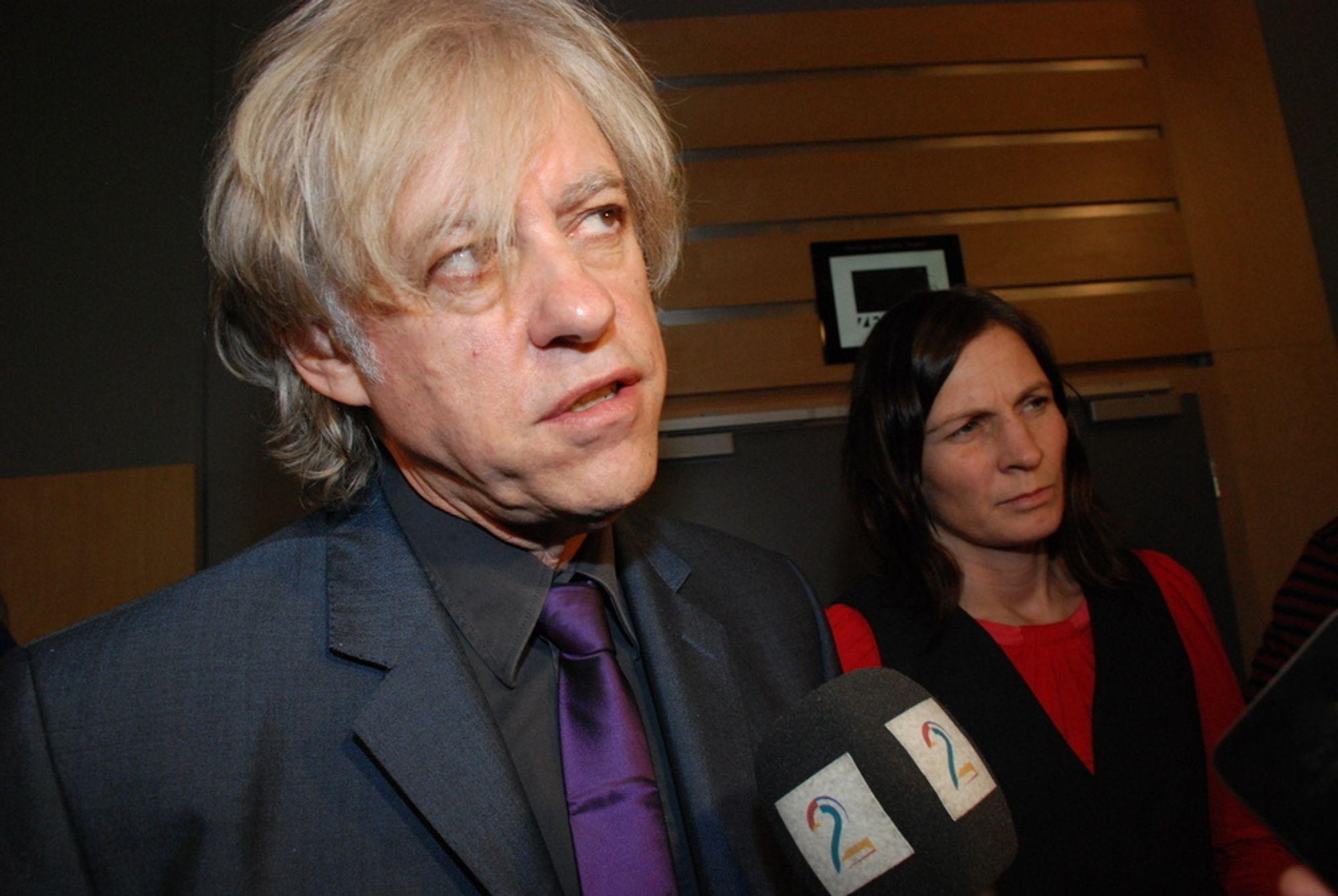 Sir Bob Geldof besøkte Zero10 på Gardermoen i dag.