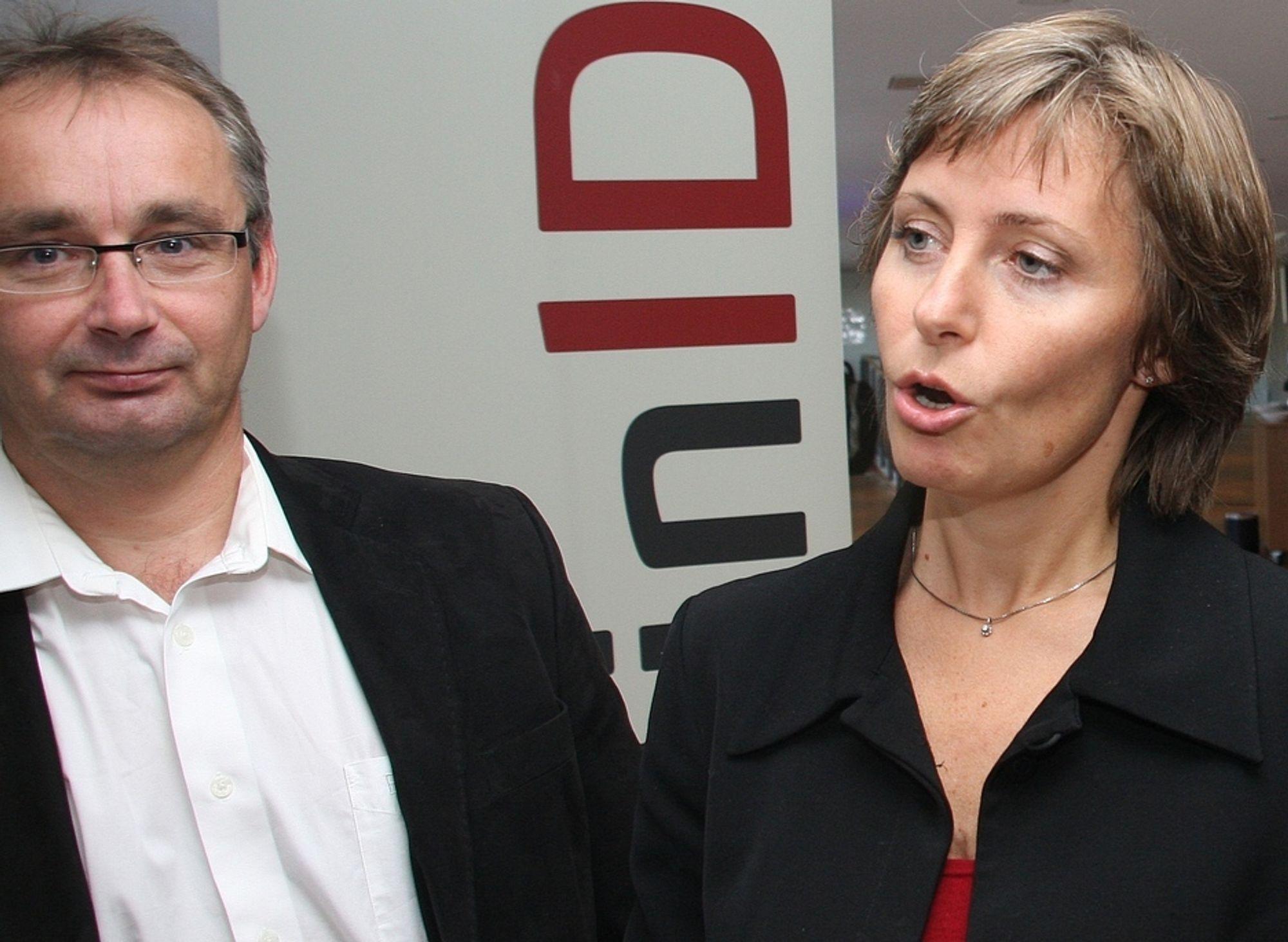 VOKSER: Seniorrådgiver Olav Skarsbø og prosjektleder Lise Nilsen hos Difi står sentralt i arbeidet med statens egen påloggingsløsning MinID, som har pådratt seg to millioner brukere.
