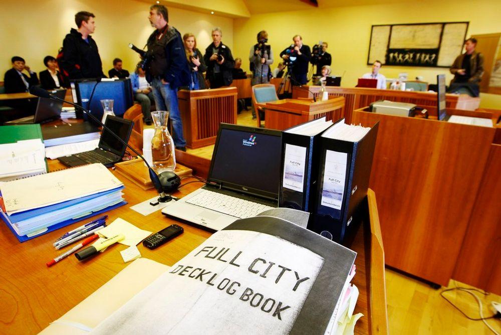 Full City-saken startet i Nedre Telemark tingrett mandag. Her en kopi av loggboka som vil bli ført som bevis.
