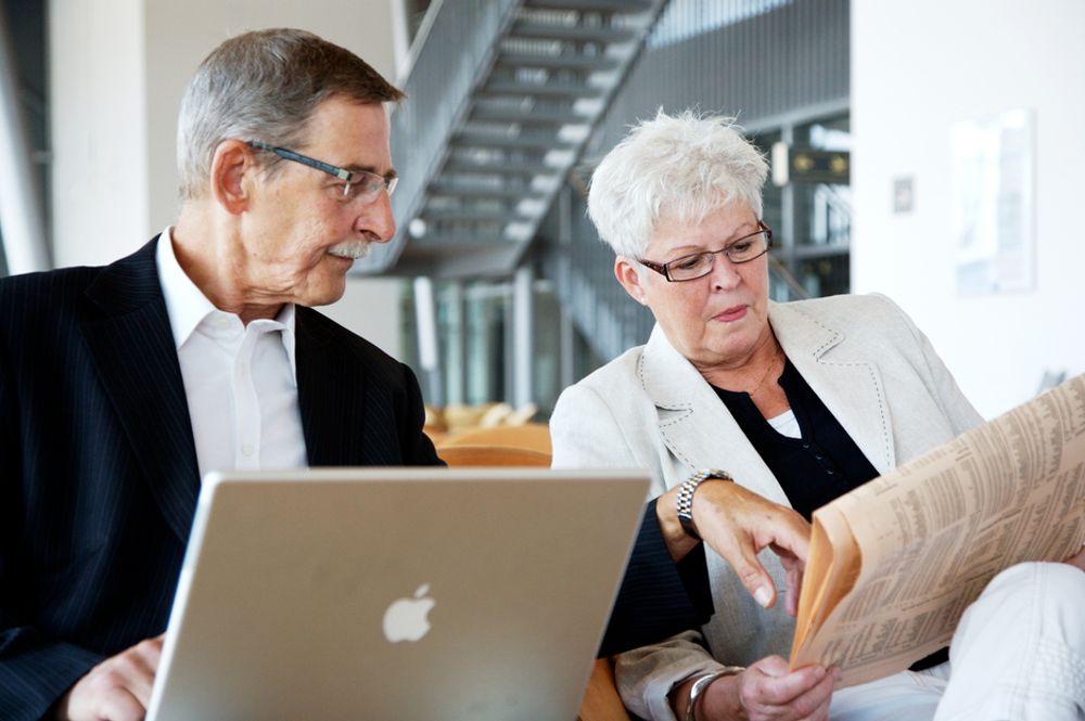 ARBEIDSLYST: Antall sysselsatte mellom 60 og 66 år øker. Og flere velger full jobb fremfor deltidsstillinger.