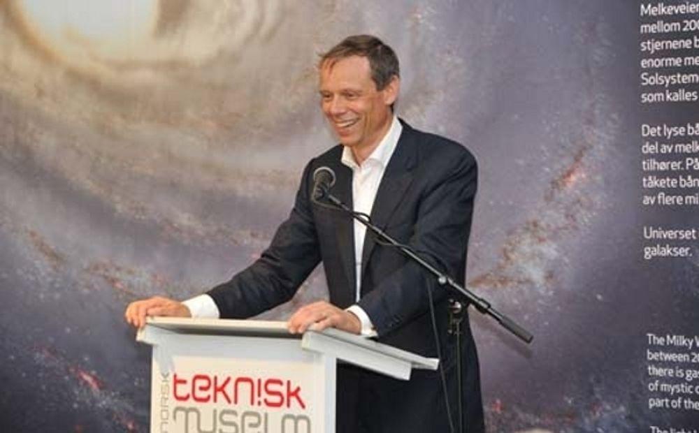 Astronaut Christer Fuglesang åpnet det nye astroamfiet ved Teknisk Museum før helgen.