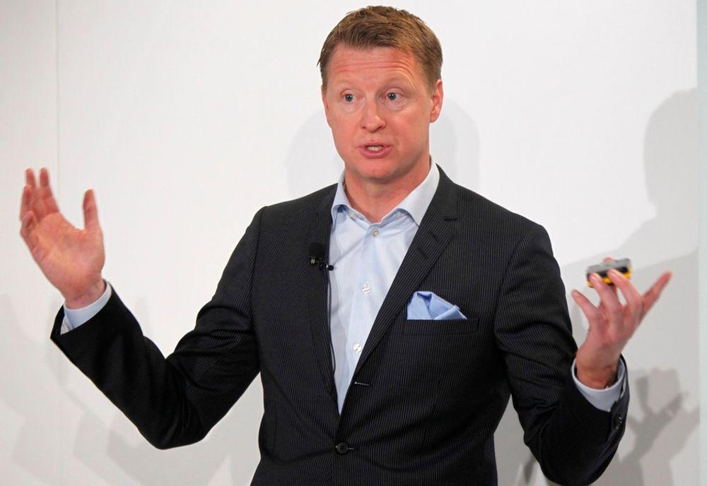 KUTTER: Ericssons administrerende direktør Hans Vestberg har bestemt at utviklingsavdelingene skal kuttes. Det rammer 120 ansatte i Asker.