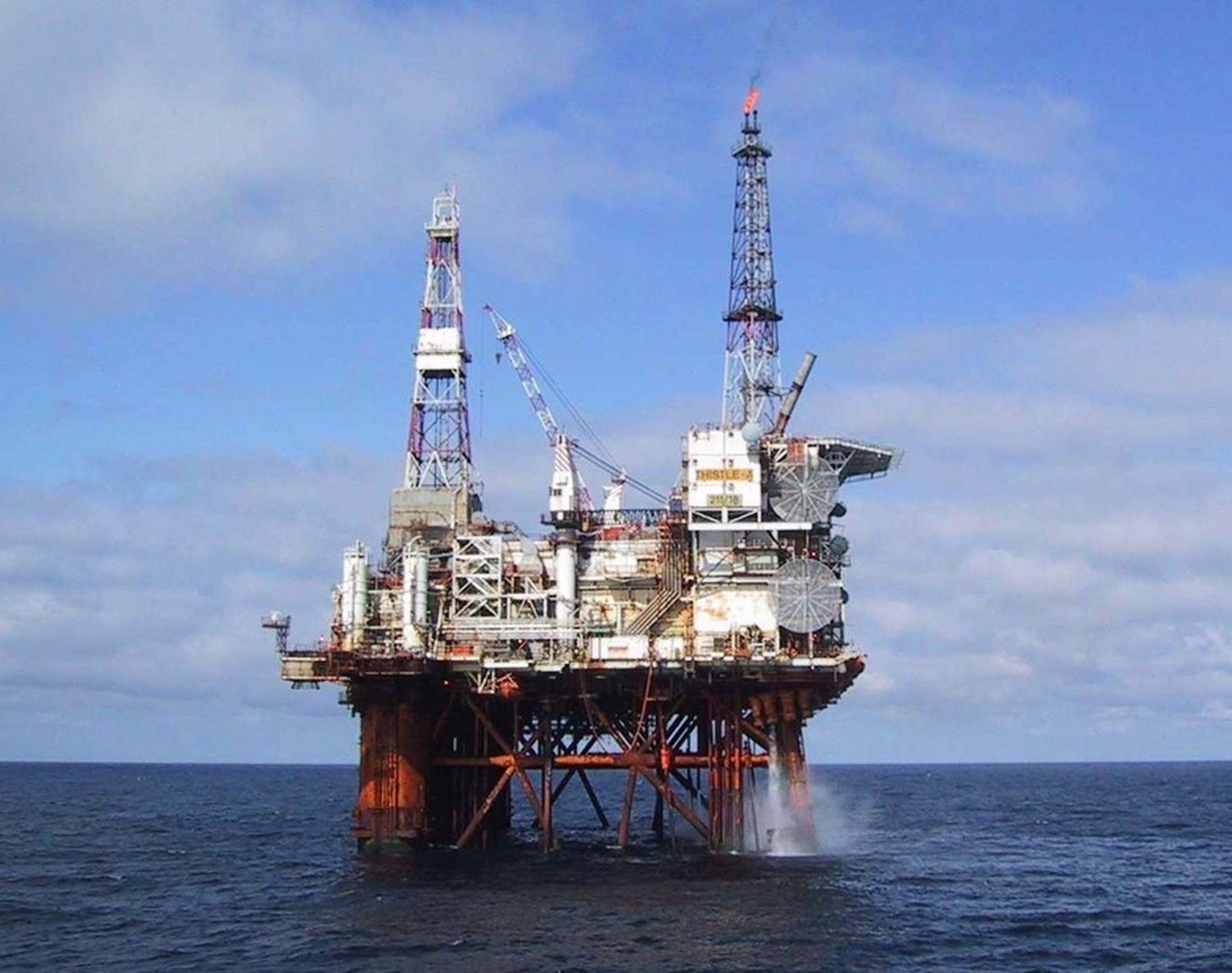 Illustrasjonsfoto av Lundin Petroleum-plattformen Thistle Alpha.