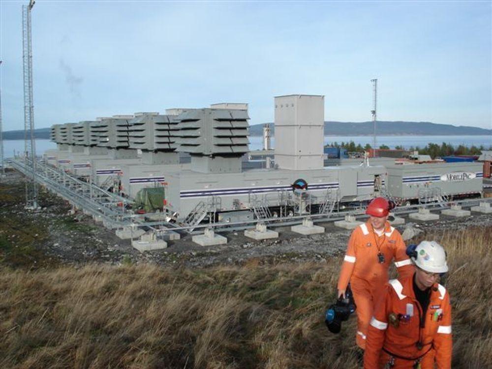 UKJENT PRIS: Statnett vil ikke si hvor mye det koster å produsere strøm ved reservegasskraftverkene.