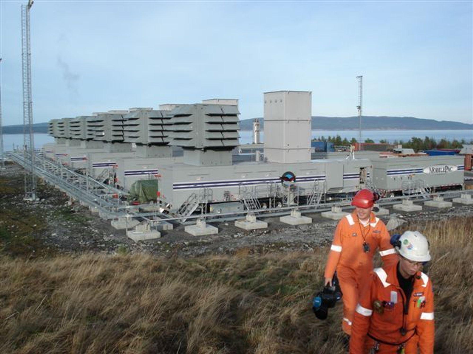 SLIPPER UT CO2: Testing av reservegasskraftverkene på Tjeldbergodden (bildet) og Nyhamna i Møre og Romsdal gir CO2-utslipp.
