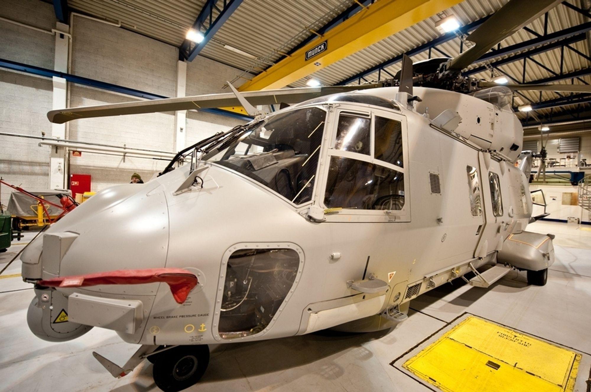 En NH90 industrimaskin, som eies og opereres av AugustaWestland, har siden november i fjor fløyet fra hovedbasen på Bardufoss.