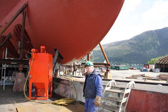 SKRÅPLAN: Et skip på beddingen. Kleven Maritime har for tiden 14 skip i ordreboka.