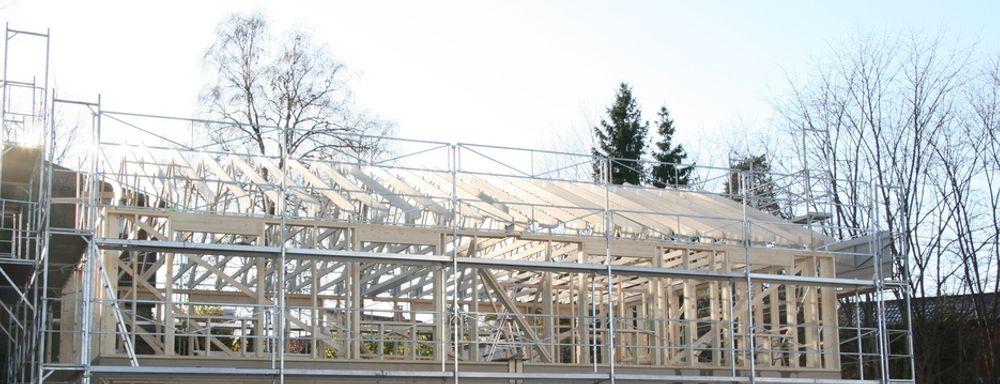 TAKSTOLER: Når den nye fabrikken til Pretre åpner går det fort. Hvert 81. sekund blir en ny takstol ferdig.