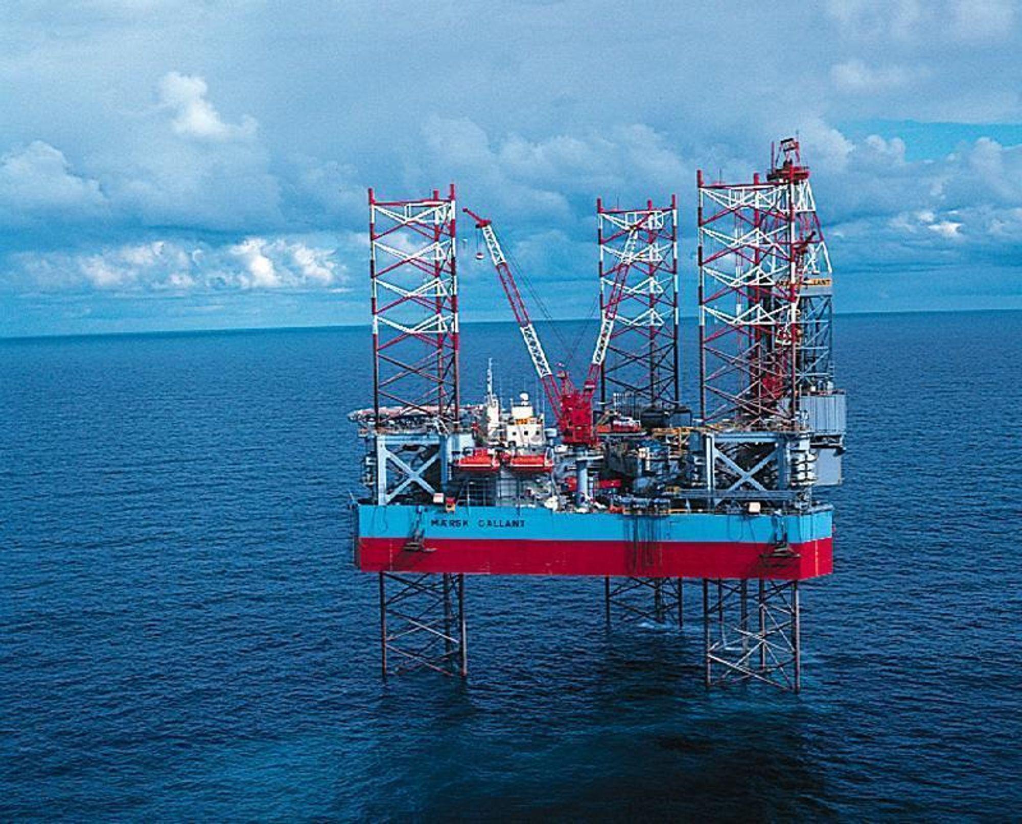 Ledelsen på en av de største plattformene til Mærsk i Nordsjøen presser ansatte til å fuske med prøver til beregning av giftutslipp. Illustrasjonsfoto av Mærsk Galant.