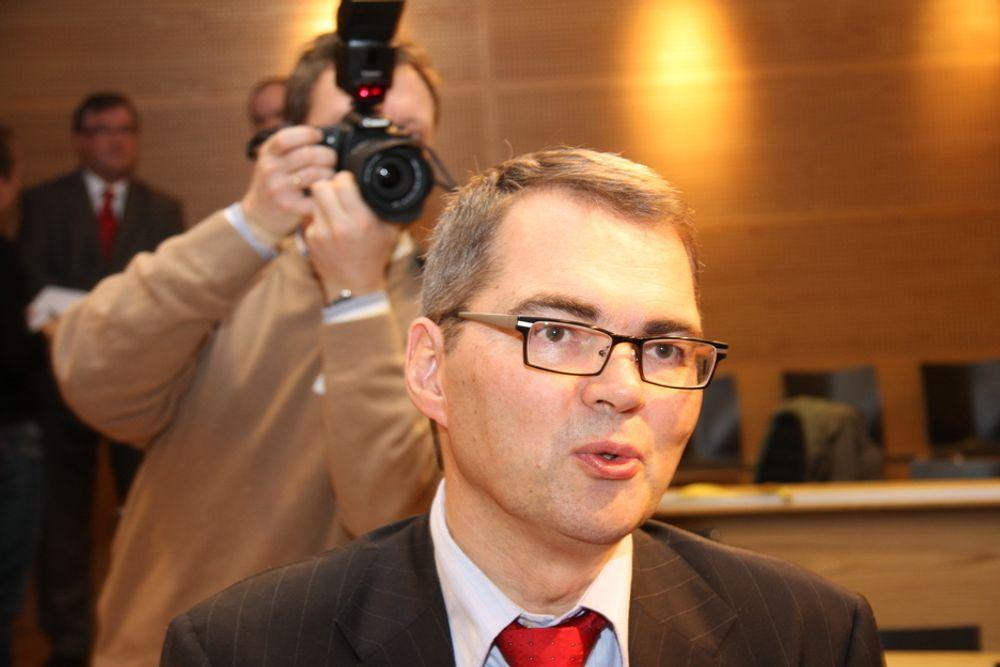 Svein Richard Brandtzæg ble presentert som ny konsernsjef i Norsk Hydro på en pressekonferanse mandag morgen.