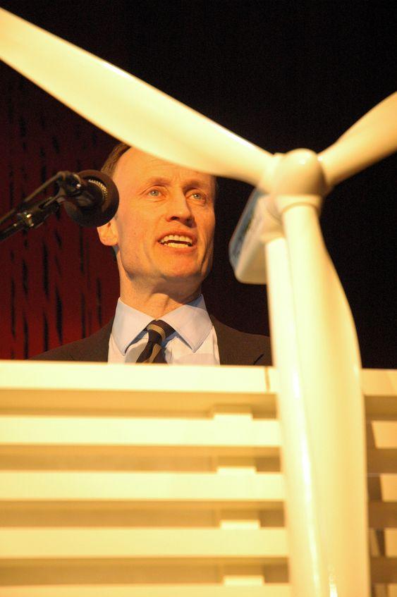 Nils Kristian Nakstad, direktør for det statlige foretaket Enova. Fra årsmøtet i Norsk Vindkraftforening 30. mars 2009.