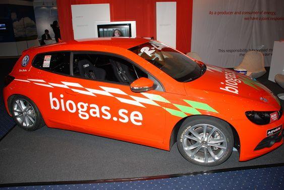 E.ONs VW Scirocco som går på metangass.