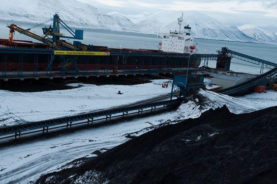 Greenpeace-aksjon på Svalbard, oktober 2009.