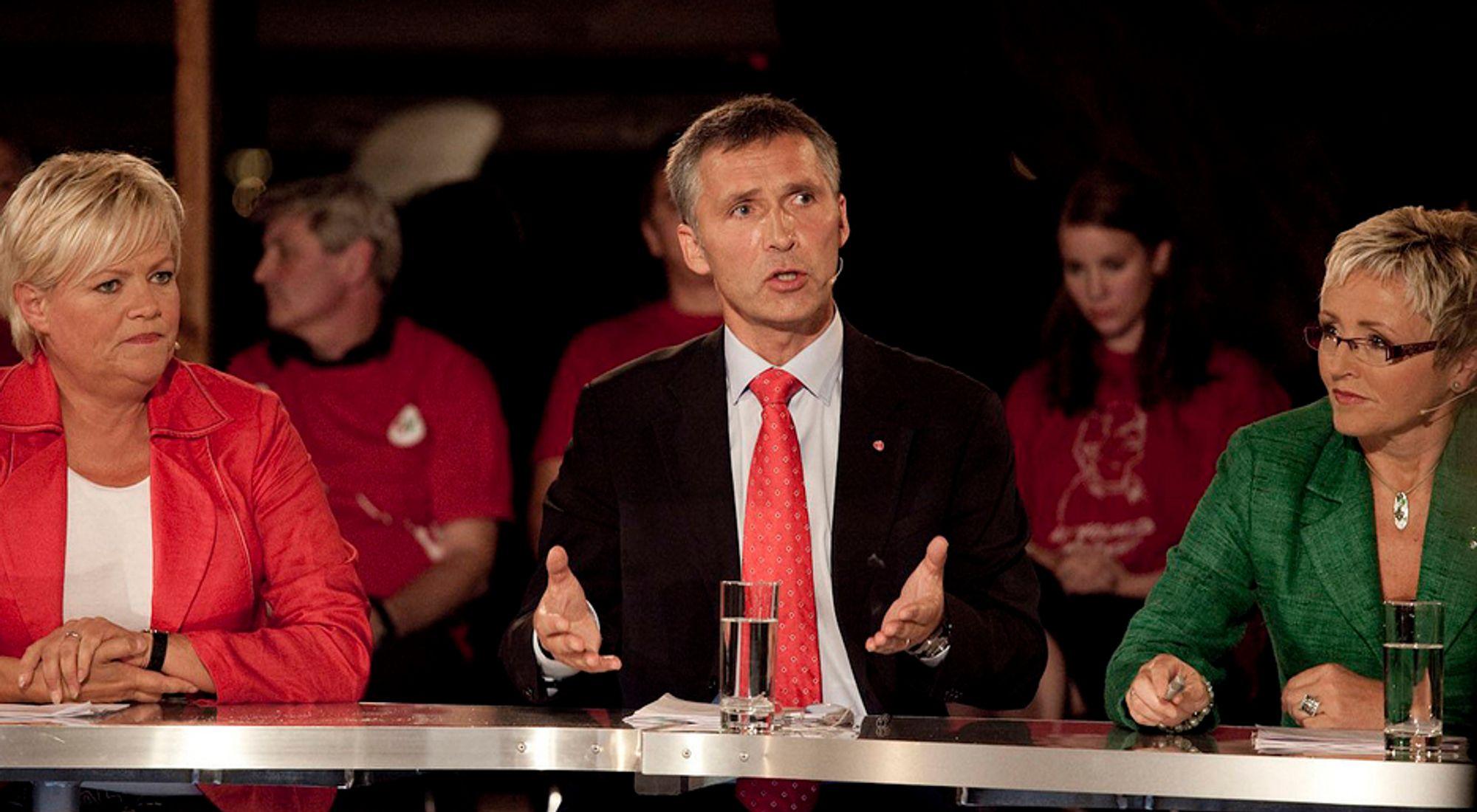 VALG: NITO-medlemmene liker Jens Stoltenberg, men ikke hans regjeringspartnere Kristin Halvorsen (t.v.) og Liv Signe Navarsete.