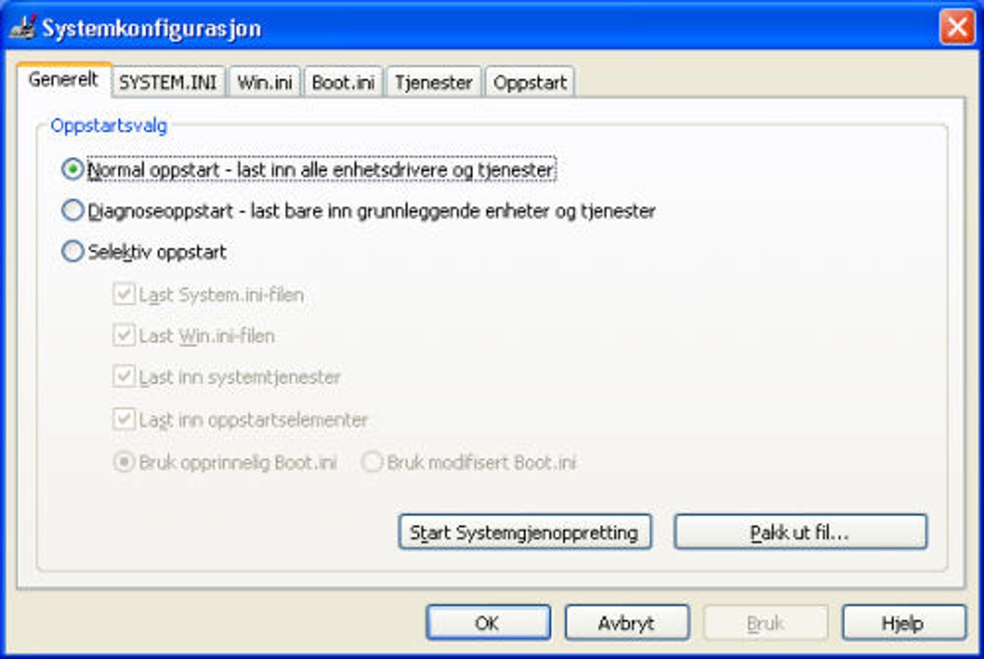 fjerne unødvendige program windows 10