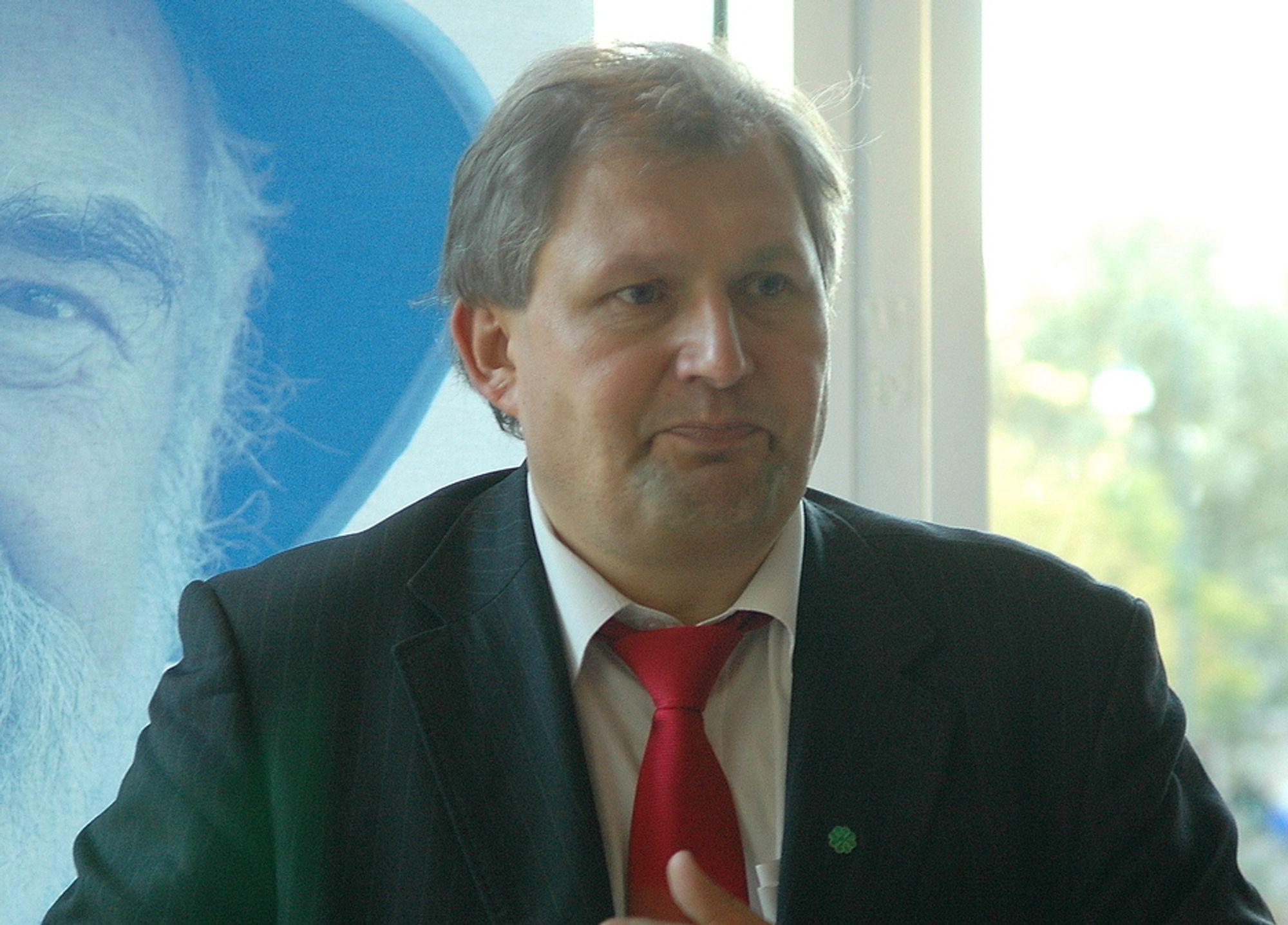 PÅ VEI UT?: Mange oppfattet olje- og energiminster Terje Riis - Johansen tale på OLFs årsmøtet som usammenhengende og dårlig forberedt. Var det hans avskjed med oljeindustrien?