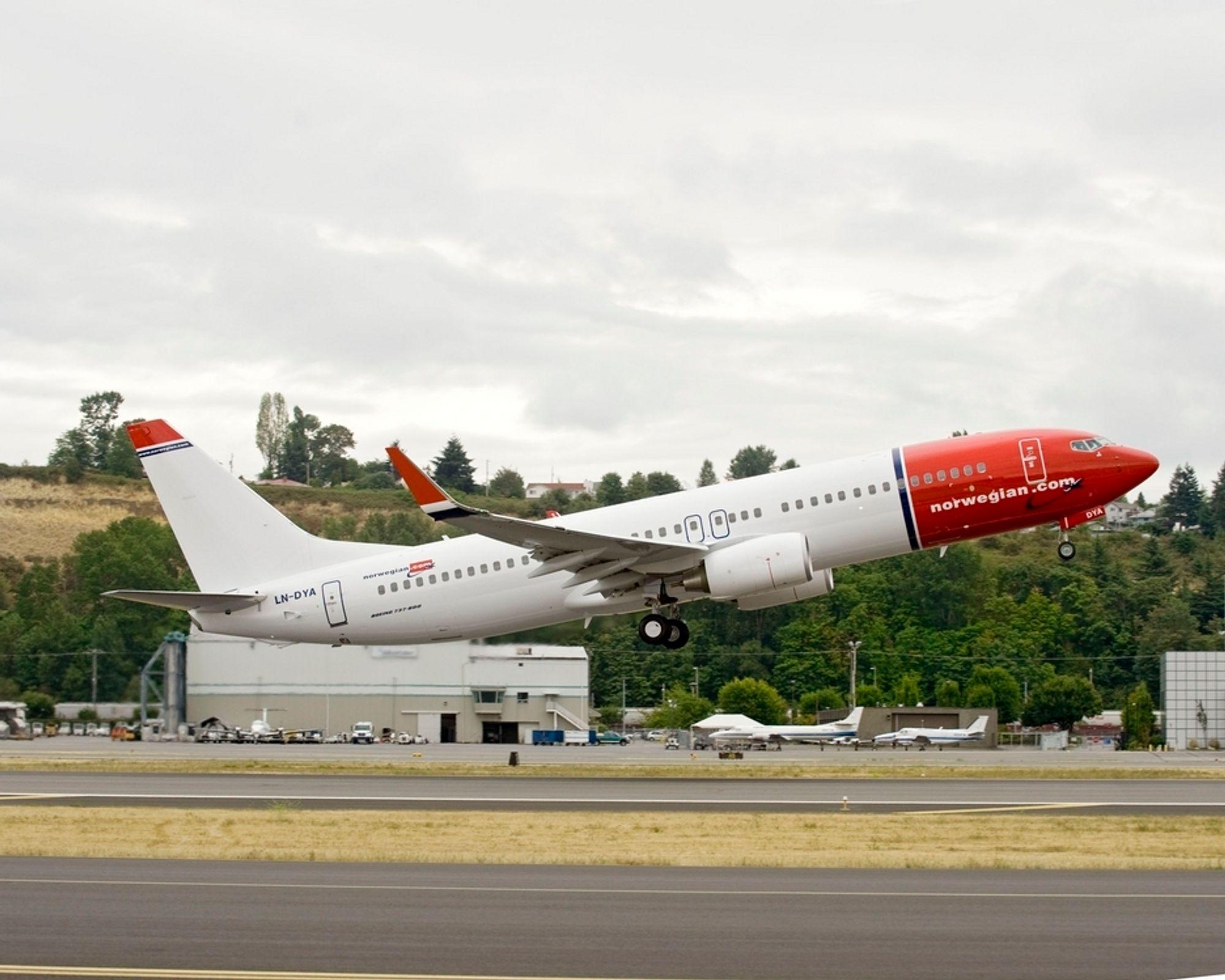 OVERTAR: Norwegian faser ut sine MD80 til fordel for stadig flere Boeing 737-800-fly (bildet).