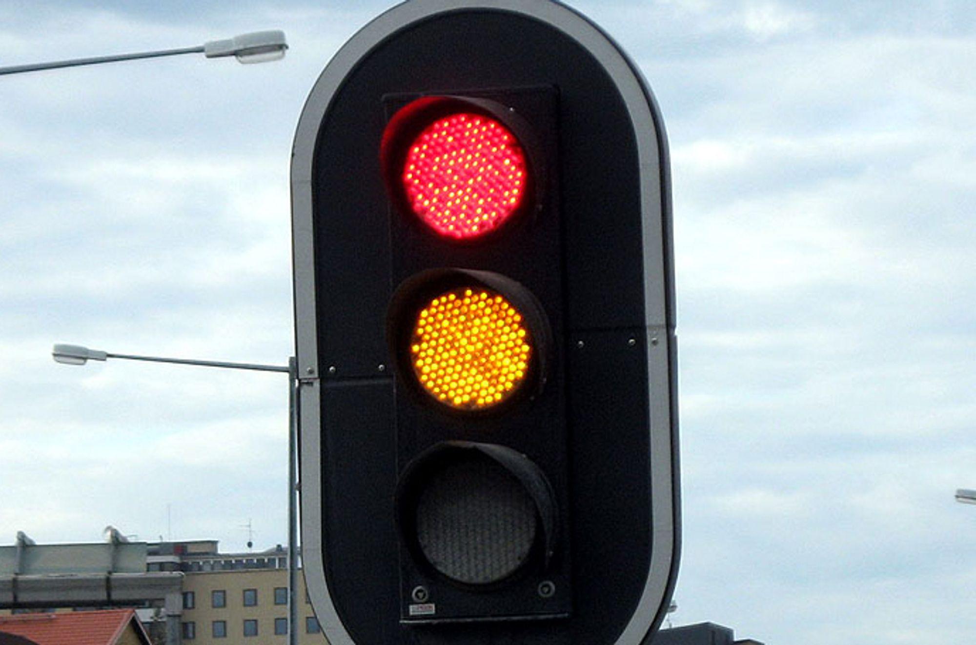 LED-lys kan spare 85 % av energien som brukes til belysning. Bildet er fra Örnsköldsvik i Sverige.