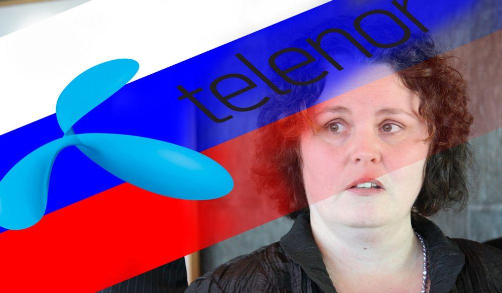 Næringsminister Sylvia Brustad gjør alt hun kan for å beskytte Telenor mot russisk rett.