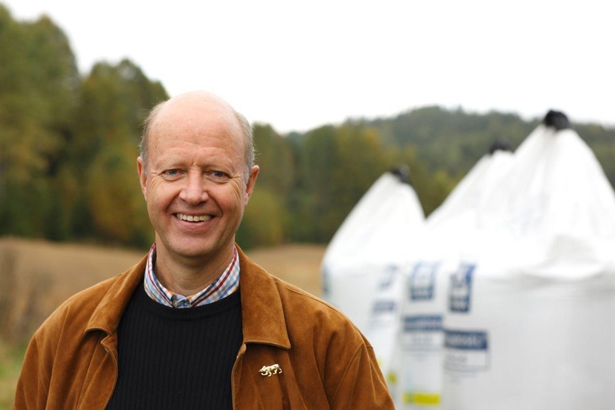 Konsernsjef Jørgen Ole Haslestad i Yara konstaterer at betingelsene for å produsere urea og ammoniakk igjen er på plass.