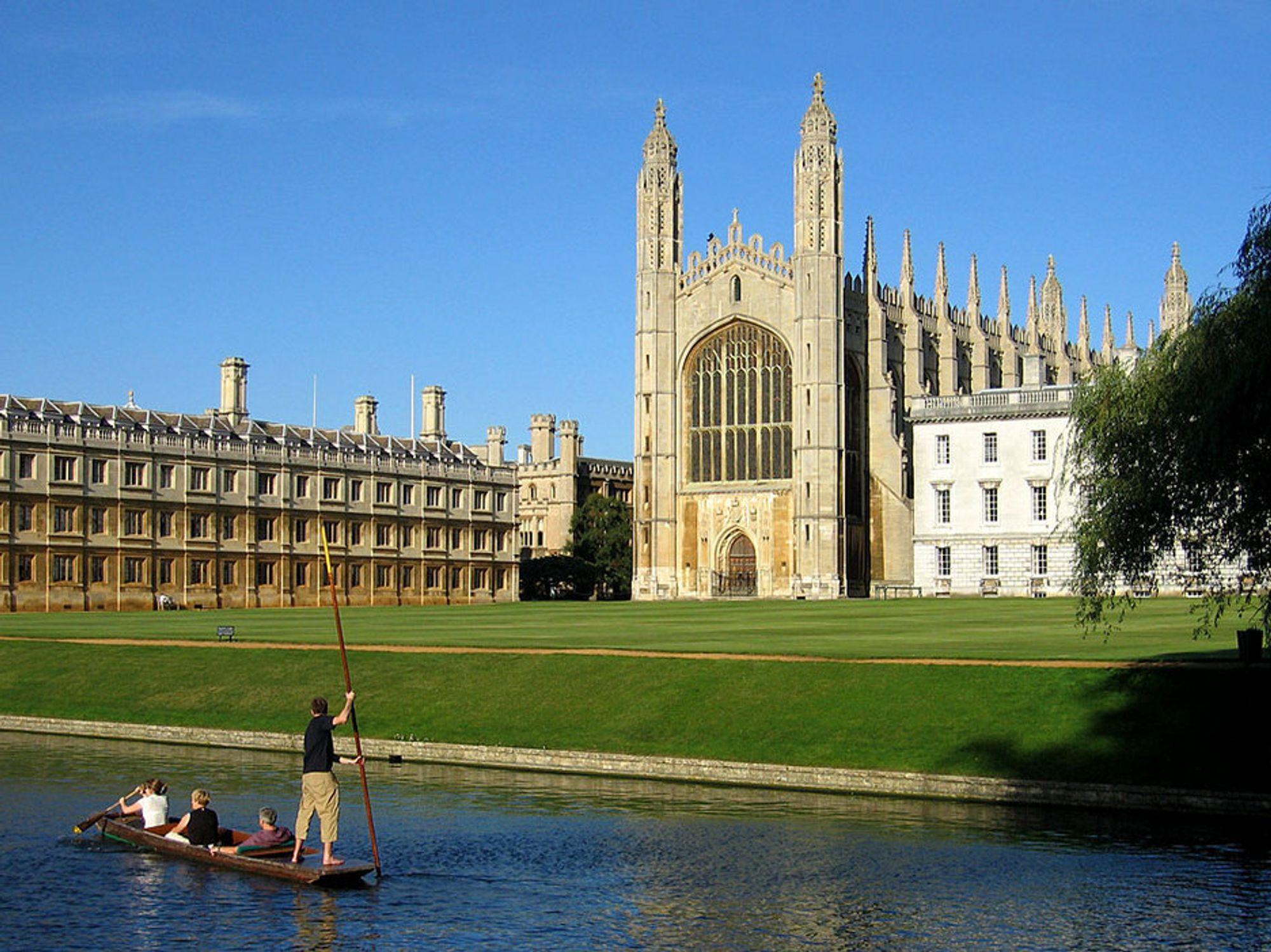 STUDIER: Søkertallene til eliteuniversitetene i Cambridge (bildet) og Oxford steg med 9,9 prosent.