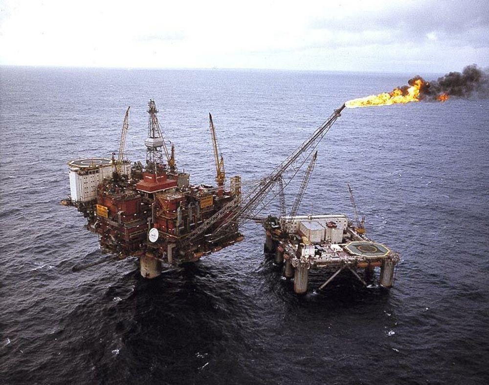 Fakling statfjord plattform