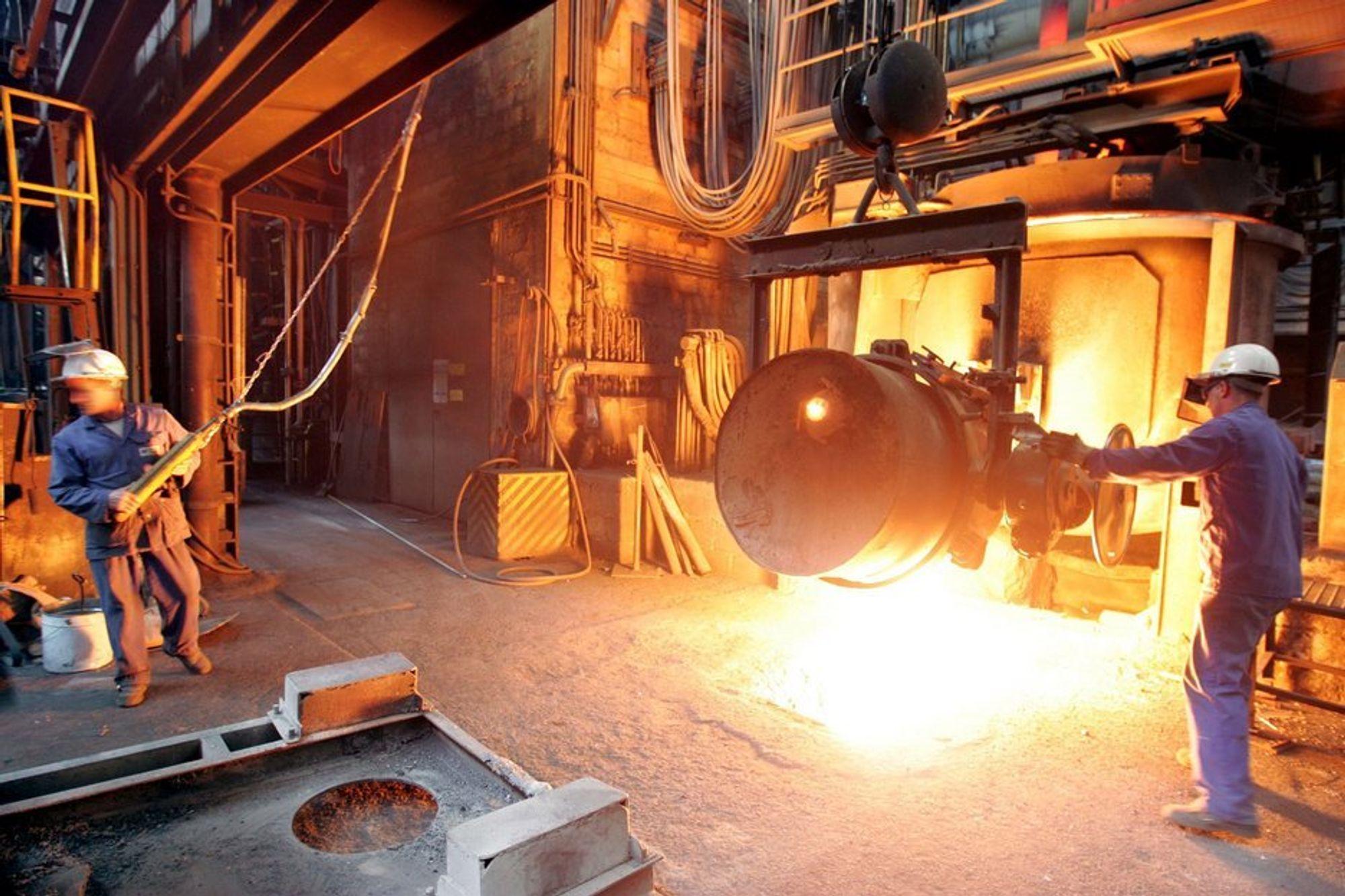 Metallindustrien hadde en liten oppgang i siste tre måneders periode.