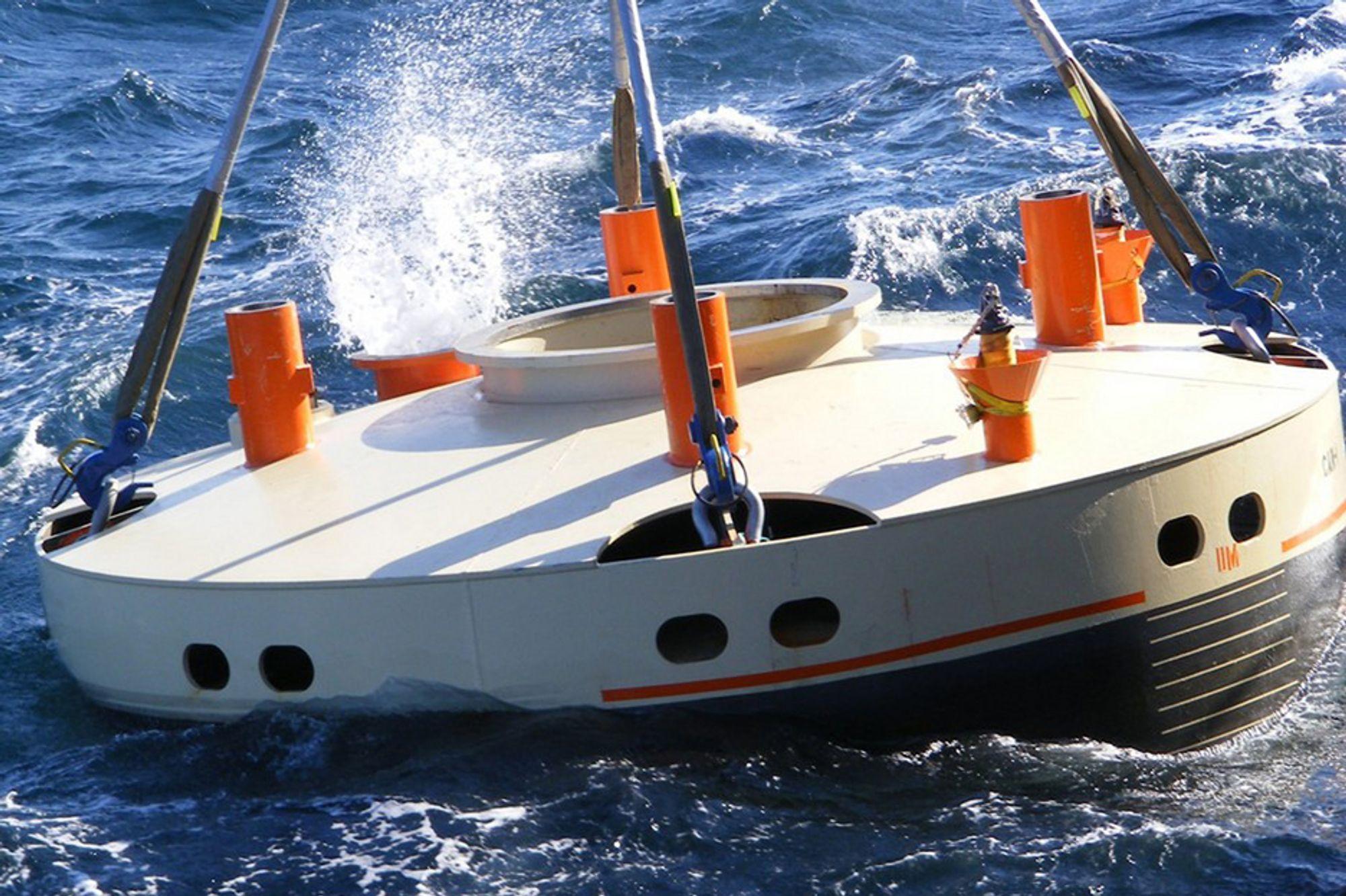 SENKES: Statoil brukte ett av av flerbruksfartøyene til Island Offshore da CAN ble installert på 371 meters dyp på Peon-feltet i april i fjor.