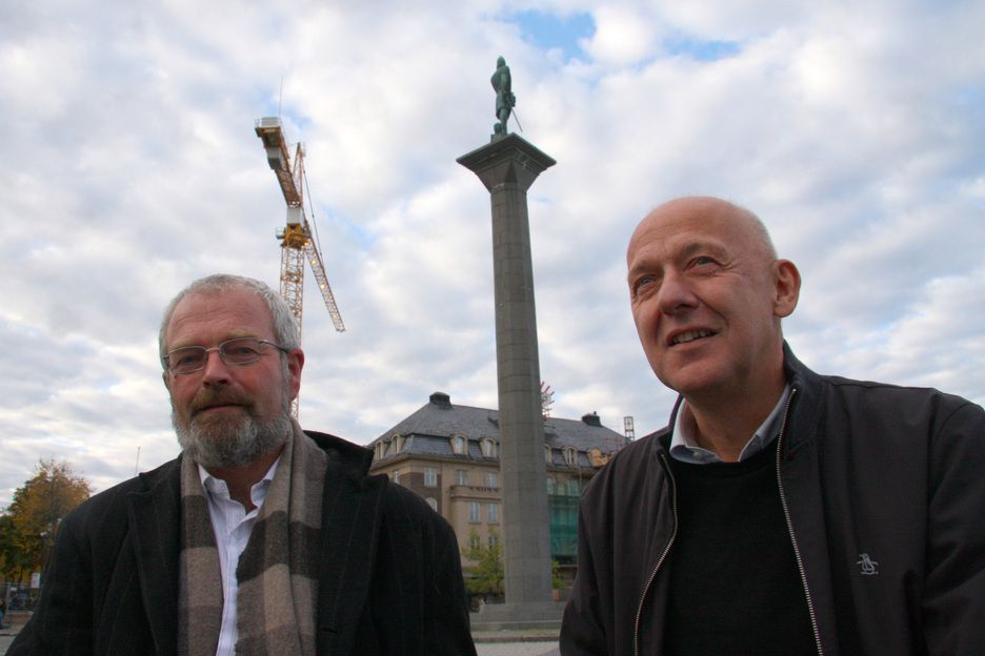 KUTTER: Varaordfører Knut Fagerbakke (tv) i Trondheim får hjelp fra Bellona og Otto Frøseth i Siemens til å kutte energibruket.