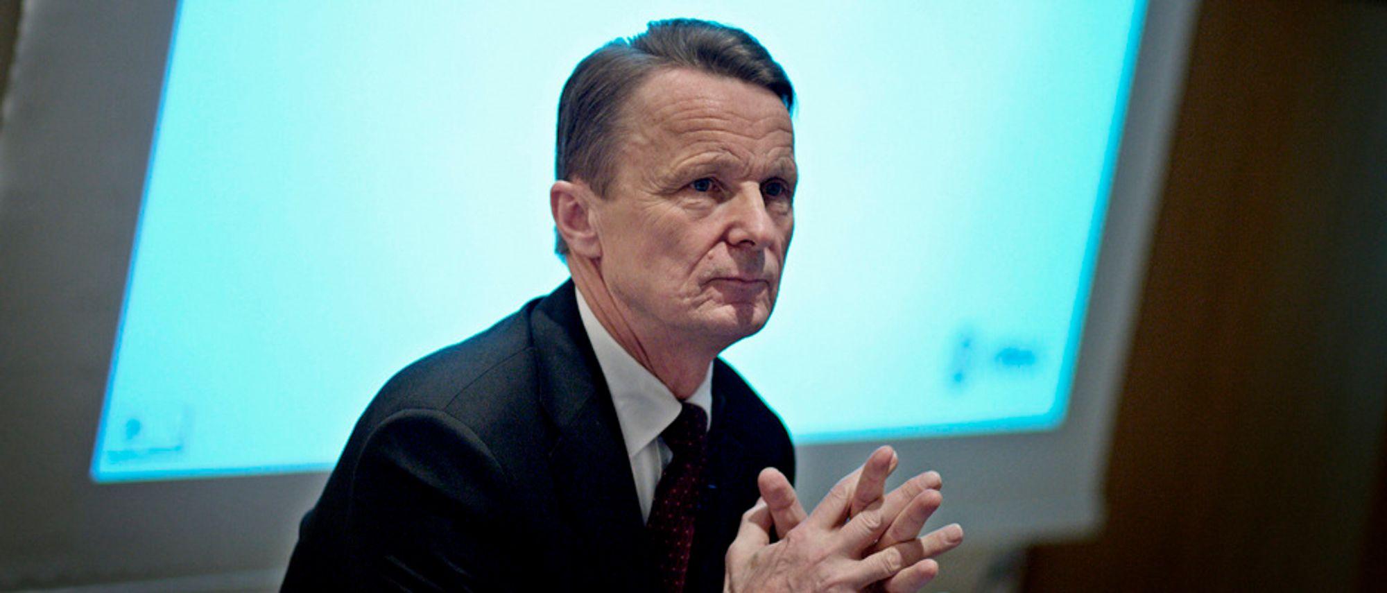 RØDT: REC-sjef Ole Enger må notere et tap på over en milliard i årets tredje kvartal.
