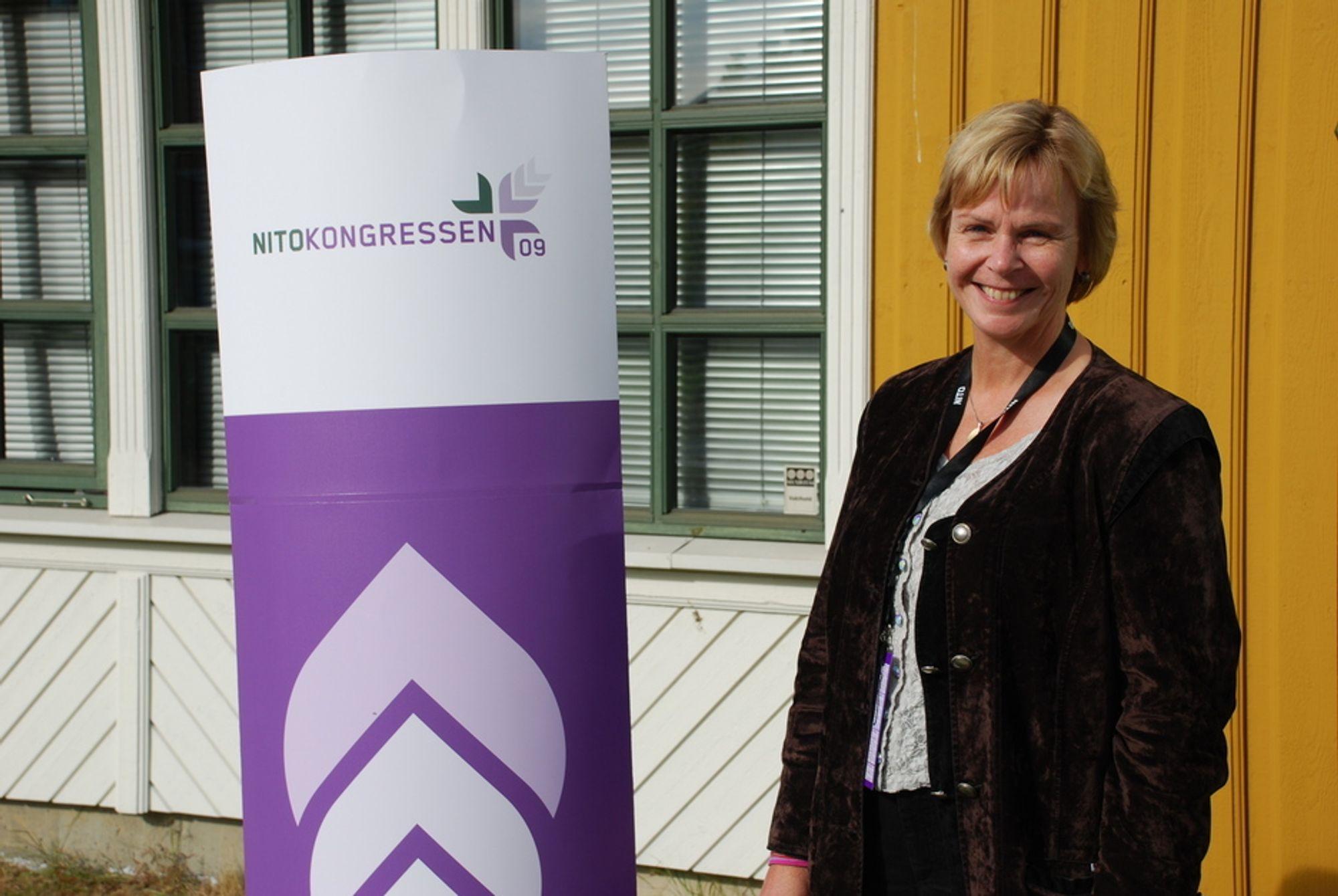 Marit Stykket ble gjenalgt som president for NITO på årets NITO-kongress.