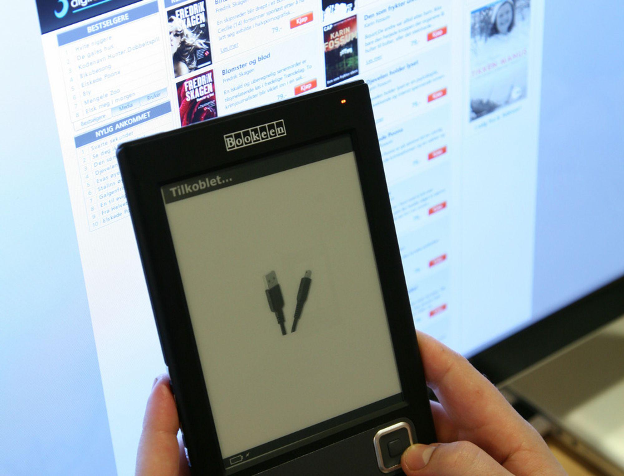 Nå får du også e-bøker på norsk.