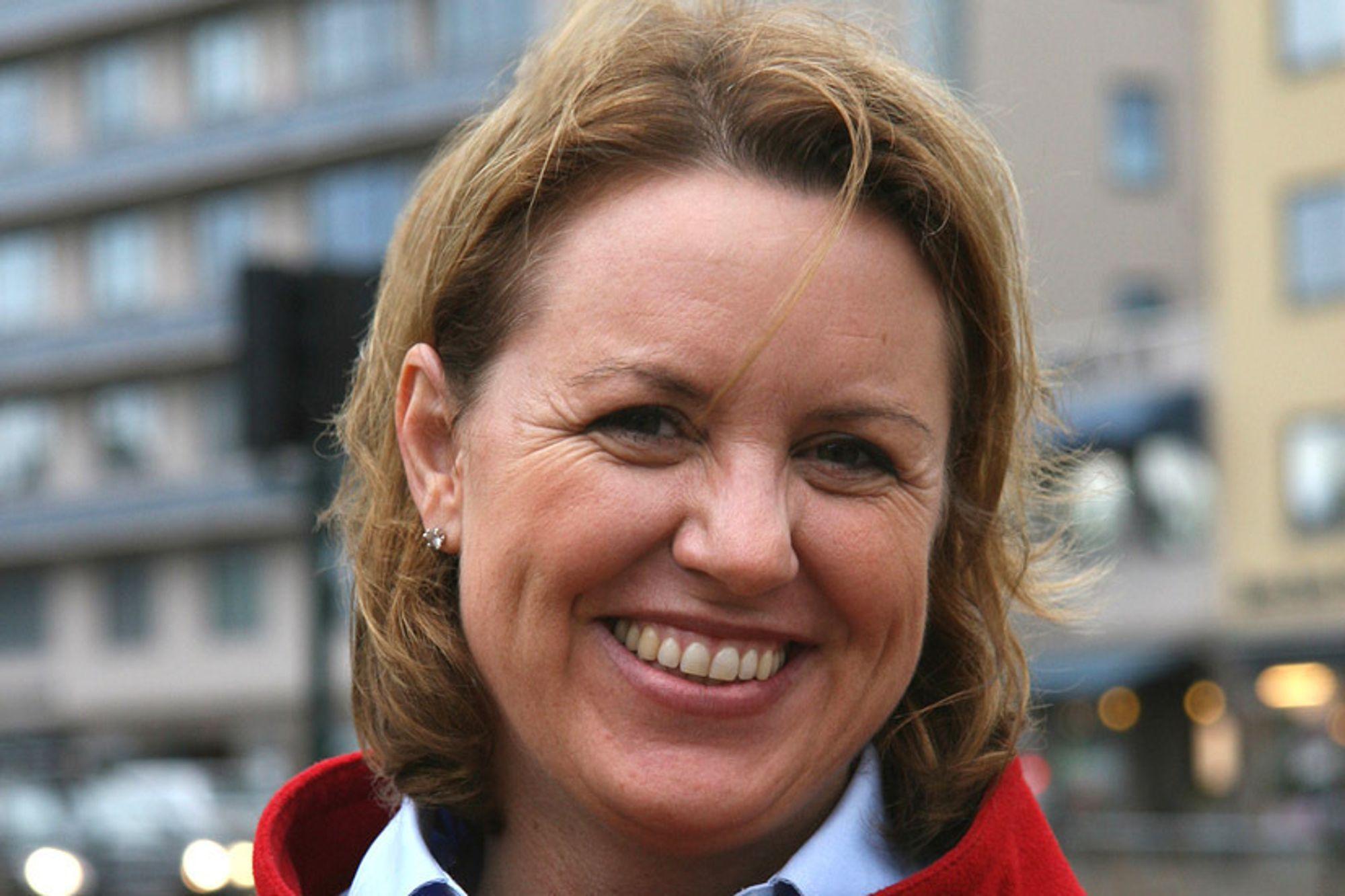 Administrerende direktør Liv Kari Hansteen i RIF mener norske politikere ikke følger opp fjorårets klimaforlik.