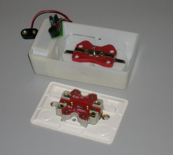 Prototyp av lysbuedetektor i kontaktpunkt