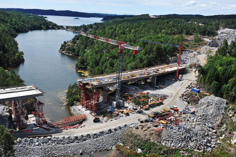 KRITISK: E18 Grimstad - Kristiansand er et OPS-prosjekt. Nestlederen i Fagforbundet mener slik veifinansiering er sløsing med fellesskapets penger.